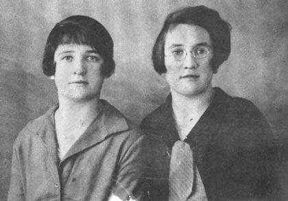 Bridget McDonnell (nee Redmond). With her sister-in-law Morrie McDonnell